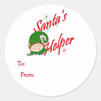 Santa's Helper Elf Gift Tags