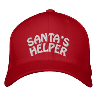 SANTA'S HELPER EMBROIDERED BASEBALL HAT