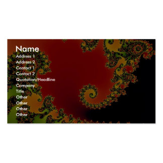 Santa's helper fractal Double-Sided standard business cards (Pack of 100)