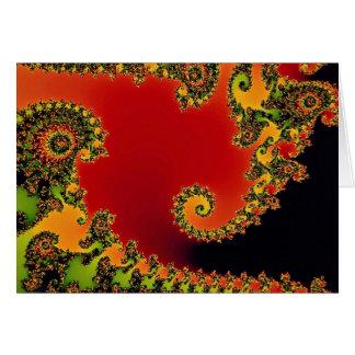 Santa's helper fractal card