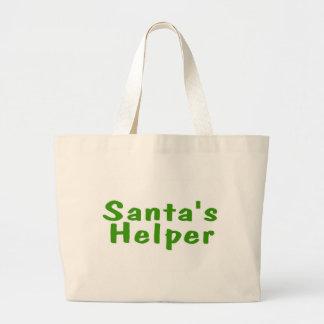 Santas Helper Green Jumbo Tote Bag
