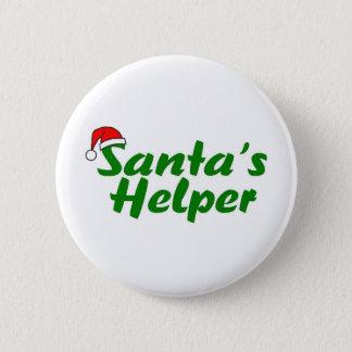 Santas Helper Green Pinback Button