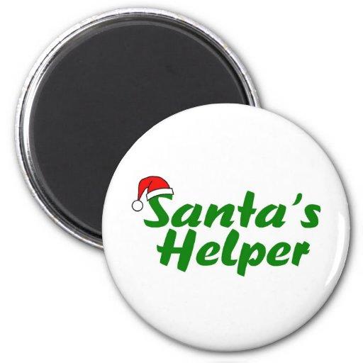 Santas Helper Green Refrigerator Magnet