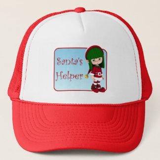 Santa's Helper Holiday Cute Elf Red Hat