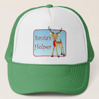 Santa's Helper Holiday Reindeer Green Hat