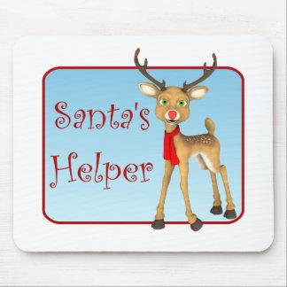 Santa's Helper Holiday Reindeer Mousepad
