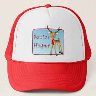 Santa's Helper Holiday Reindeer Red Hat