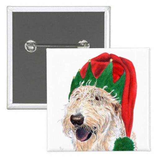 Santas Helper Labradoodle Magnet Buttons