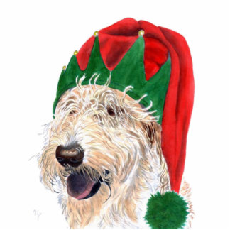 Santas Helper Labradoodle Sculpture Standing Photo Sculpture