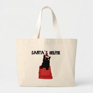 Santa's Helper Large Tote Bag