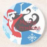 Santa's Helper - Merry Christmas Coaster