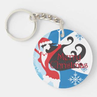 Santa's Helper - Merry Christmas Keychain