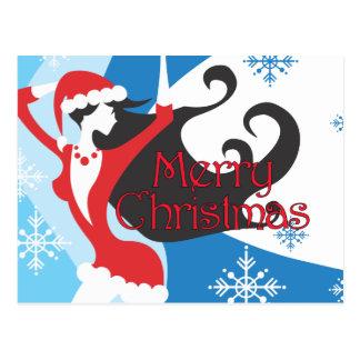 Santa's Helper - Merry Christmas Postcard