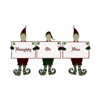Santas Helper Naughty or Nice Tshirt shirt