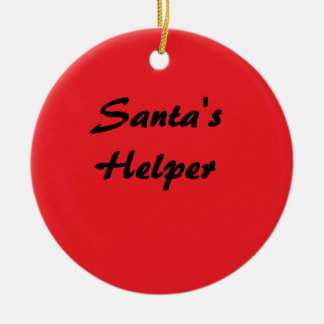 """Santa's Helper"" Ornament"