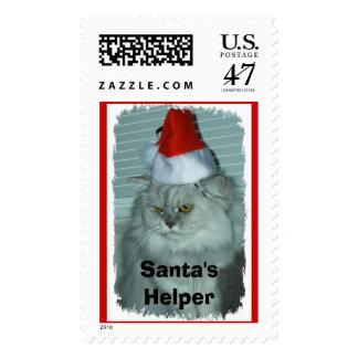 Santa's Helper Postage Stamp