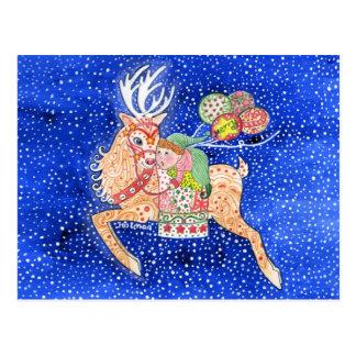 Santa's Helper Postcard