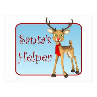 Santa's Helper Reindeer Holiday Postcards