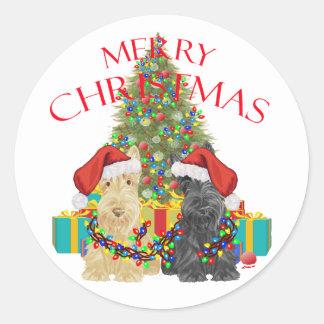 Santa's Helpers Classic Round Sticker