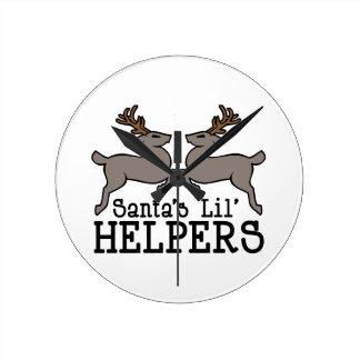 Santas Helpers Wallclocks