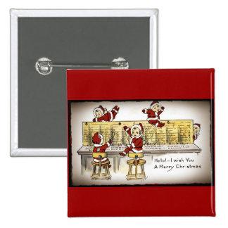 Santa's Helpers on a Switchboard Pinback Button