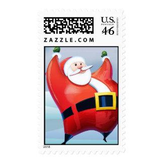 Santa's here stamp