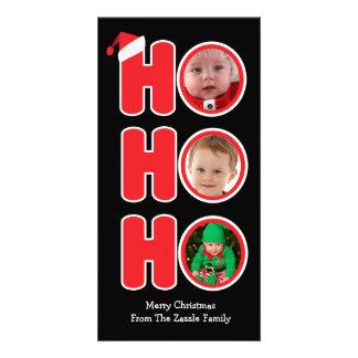 Santas Ho Ho Ho Christmas Photo Frame Card