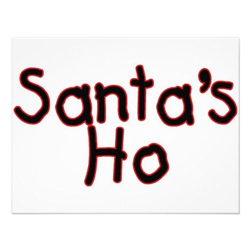 Santas Ho Invitacion Personalizada