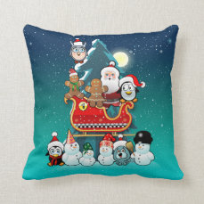 Santa's Holiday Party Throw Pillow
