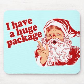 Santas Huge Package Mouse Pad