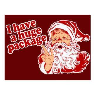 Santas Huge Package Postcard
