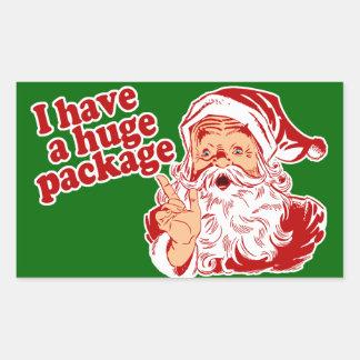 Santas Huge Package Rectangular Stickers