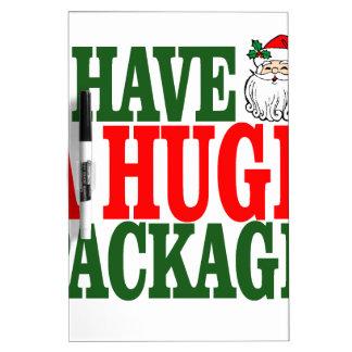 Santas Huge Package Tee Shirts J.png Dry-Erase Whiteboard