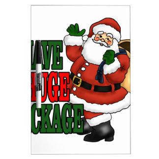 Santas Huge Package Tee Shirts MK.png Dry Erase Whiteboard