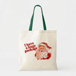 Santas Huge Package Tote Bag