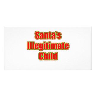 Santa's Illegitimate Child Photo Card