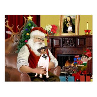 Santa's Jack Russell Terrier Postcard