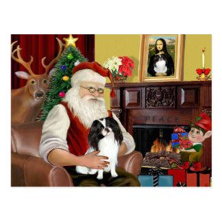 Santa's Japanese Chin Postcard