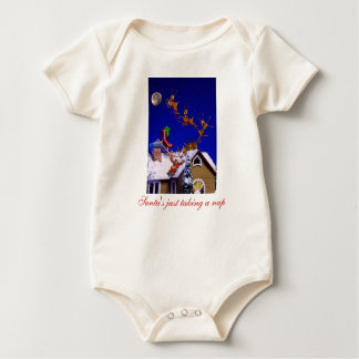 Santa's Just Taking a Nap Baby Bodysuits