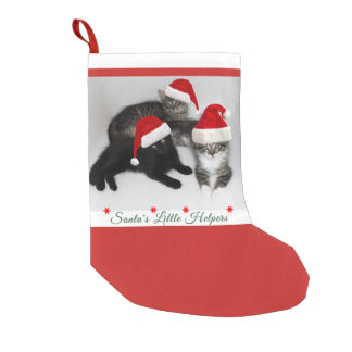 Santa's Kitten Helpers Christmas Stocking