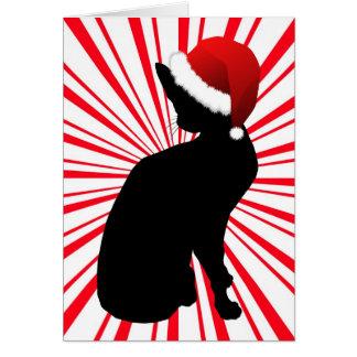 Santa's Kitty Card