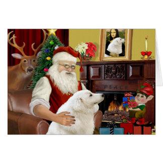 Santa's Kuvasz Greeting Card