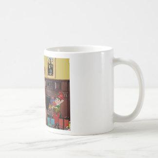 Santa's Labrador (Black) Coffee Mug