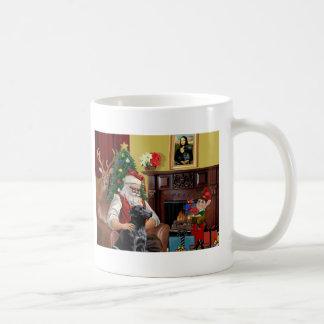 Santa's Labrador (Black) Mugs