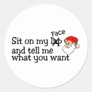Santa's Lap Classic Round Sticker