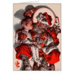 Santa's Lap Greeting Card