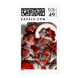 Santa's Lap Postage Stamp
