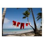 Santa's Laundry On Beach Card