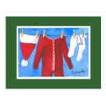 Santa's Laundry Washline Postcards