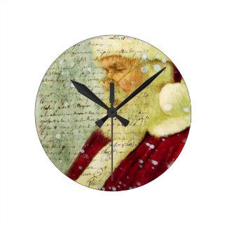 Santas Letter Round Wall Clocks